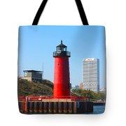 Milwaukee Harbor Lighthouse Tote Bag