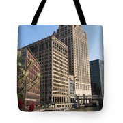 Milwaukee River And Skywalk Tote Bag