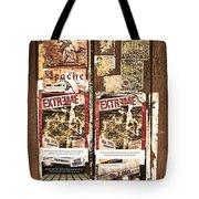 Minahasa Village Signage Sepiad Tote Bag