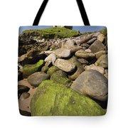 Minard Castle And Rocky Beach Minard Tote Bag