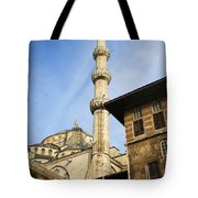 Minaret Of The Blue Mosque Tote Bag