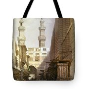 Minarets And Grand Entrance Of The Metwaleys At Cairo Tote Bag