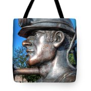 Miner Statue Tote Bag