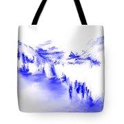 Minimal Landscape Monochrome In Blue 111511 Tote Bag