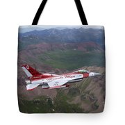 Minute Men Paint Scheme On An F-16 Tote Bag