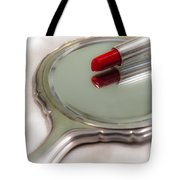 Mirror And Lipstick Tote Bag by Joana Kruse