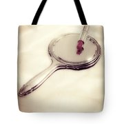 Mirror With Lipstick Tote Bag