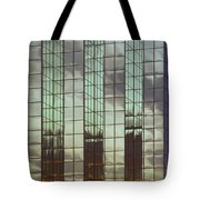 Mirrored Building Tote Bag