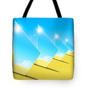 Mirrors On Sand In Blue Sky Tote Bag