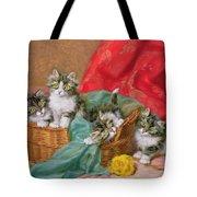 Mischievous Kittens Tote Bag