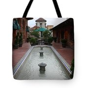 Mission Inn Roof Top Pond Tote Bag