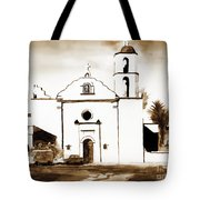 Mission San Luis Rey In Sepia Tote Bag by Kip DeVore