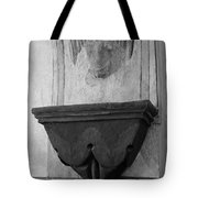 Mission San Xavier Del Bac - Angel Gargoyle In Black And White Tote Bag