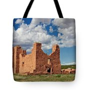 Mission To Quarai New Mexico Tote Bag by Christine Till