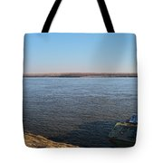 Mississippi River View Tote Bag