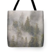 Mist In Tongass National Forest Tote Bag