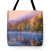 Misty Autumn Morning Tote Bag