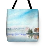 Misty Lake Tote Bag