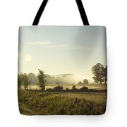 Misty Lines Tote Bag