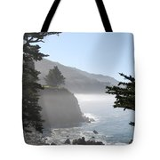 Misty Morning On The Big Sur Coastline Tote Bag by Camilla Brattemark