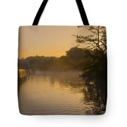 Misty Morning On The Grand Union Canal Tote Bag