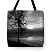 Misty Reflections Bw Tote Bag
