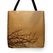 Misty Sunbeams Tote Bag