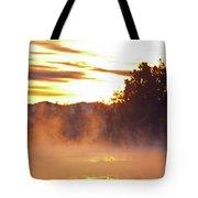 Misty Sunrise Tote Bag