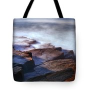 Misty Tide At Monument Cove Tote Bag
