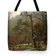 Misty Tree Tote Bag