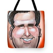 Mitt Romney Caricature Tote Bag