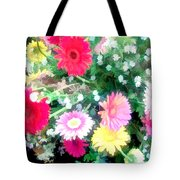 Mixed Asters Tote Bag