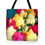 Mixed Celosias In Fall Colors Tote Bag
