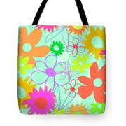 Mixed Flowers Tote Bag by Louisa Knight