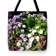 Mixed Impatiens In Dappled Shade Tote Bag