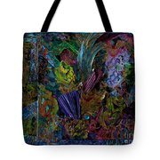 Mixed Media In Blues Tote Bag