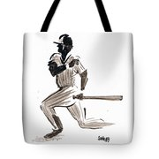 Mlb Base Hit Tote Bag