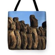 Moai Along The Coast Of Easter Island Tote Bag