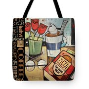 Mocha Coffee Languages Poster Tote Bag
