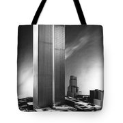Model Of World Trade Center Tote Bag