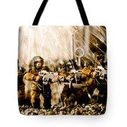 Modern Battle Field Tote Bag