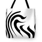 Modern Zebra  Tote Bag