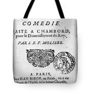 Moliere (1622-1773) Tote Bag
