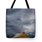 Molton Barn And Approaching Storm Tote Bag