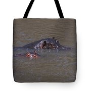 Mom And Baby In The Mara River Tote Bag