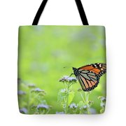 Monarch And Mist Tote Bag