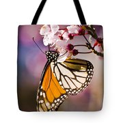 Monarch On A Flower Tote Bag