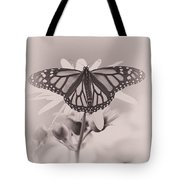Monarch On Sunflower Tote Bag