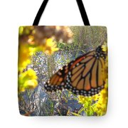 Monarch On The Dunes  Tote Bag