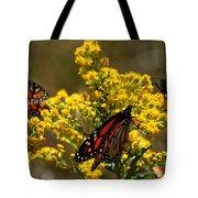 Monarchs On Yellow Tote Bag